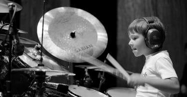 kid drumming