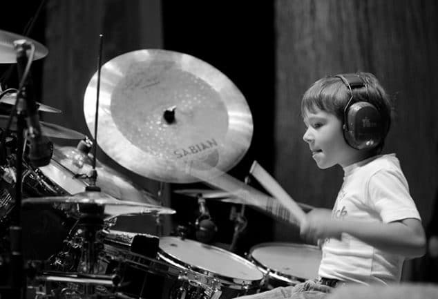 kid drumming